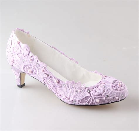 Lilac Shoes For Wedding by Handmade Light Purple Lavender Lace Wedding