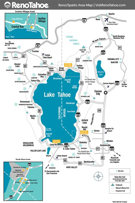 lake tahoe map lake tahoe maps and reno maps discover reno tahoe