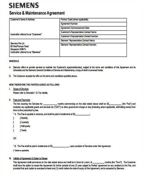 yearly contract templates 6 yearly contract sles templates in pdf