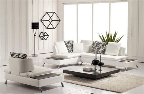 White Living Room Tables Modern Furniture