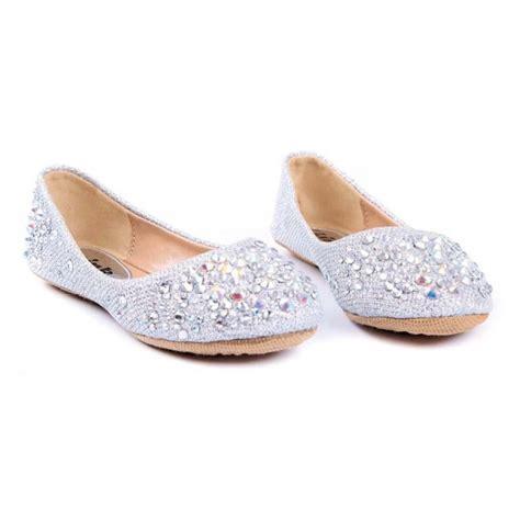 rhinestone shoes flats larissa 39k rhinestone ballet ballerina flats