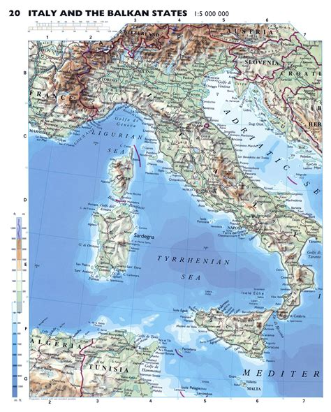 geographical map of italy geography detailed map of italy