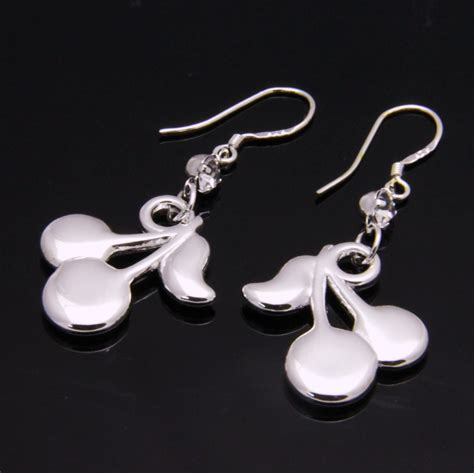 925 sterling silver plate allergy free cherry dangle