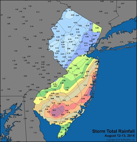 new jersey weather yearly mid atlantic deluge new jersey weather and climate network