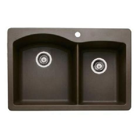 Ferguson Kitchen Sinks B440213 White Color Bowl Kitchen Sink Cafe Brown At Shop Ferguson