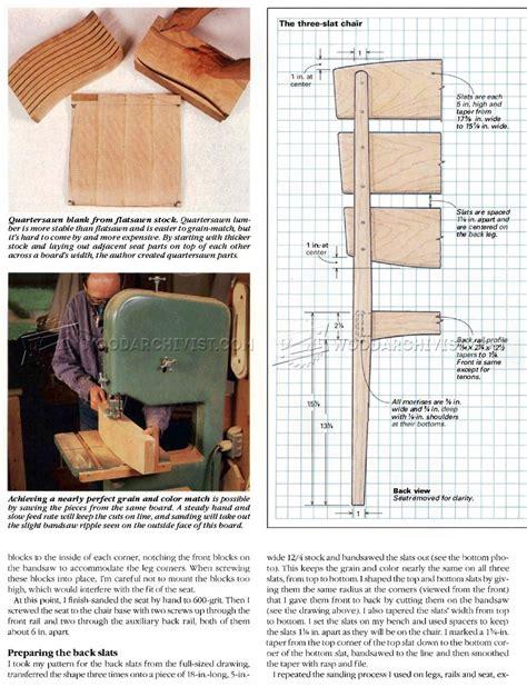 Slat Chair Plans by The Three Slat Chair Plans Woodarchivist