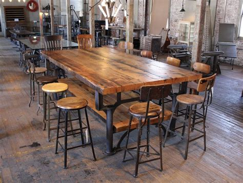 Industrial Conference Table Reclaimed Wood Conference Tables