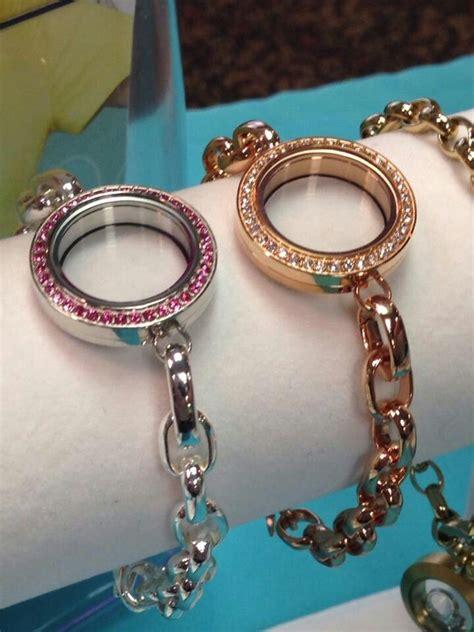 origami owl new link locket bracelets pink