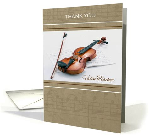 Thank You Letter To Violin Thank You To Violin Violin And Sheet Card 994457