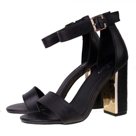 black ankle sandal heels bebo high block heel ankle sandal black at kular fashion