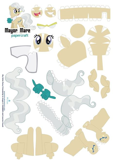 Craft Paper Pattern - mayor mare papercraft pattern by kna on deviantart
