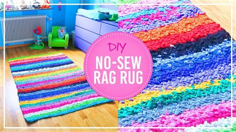 rag rug tutorial no sew diy no sew rag rug