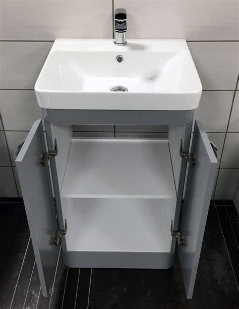 curved bathroom vanity unit perla grey gloss curved vanity unit with ceramic basin sink bathroom unit tewp
