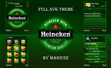 Heineken Themes For Nokia C3 | heineken nokia theme by mariuszart on deviantart