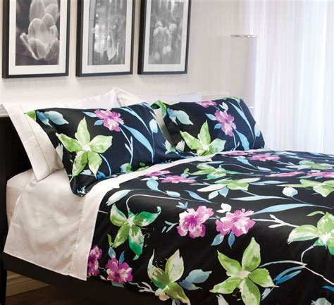 purple and black floral bedding www imgkid the