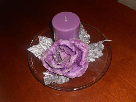 candele viola piatto in vetro con candela viola per la casa e per te