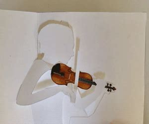 violin pop up card template printable violin pop up card shows violinist bowing