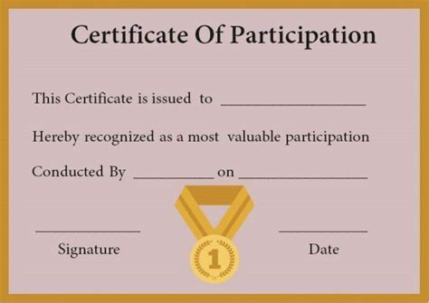 certificate of participation in workshop template certificate of participation in workshop template
