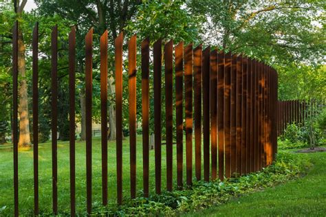 corten fence landscape contemporary with corten steel cor