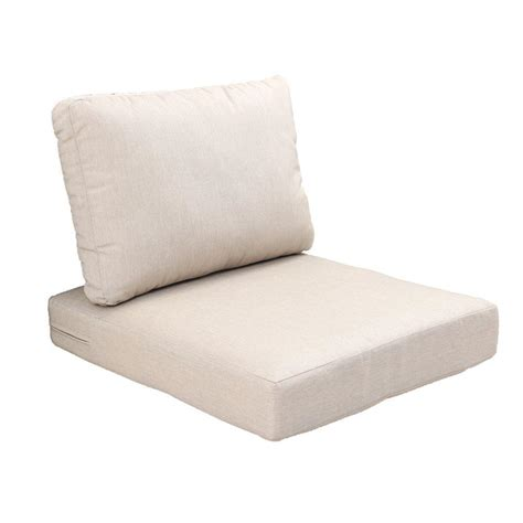 hampton bay beverly beige replacement  piece outdoor sectional chair cushion set