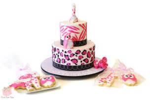 baby shower leopard amp zebra print cake 187 custom baby shower cakes
