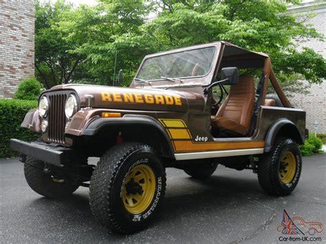 brown jeep cj7 renegade jeep cj 7 renegade