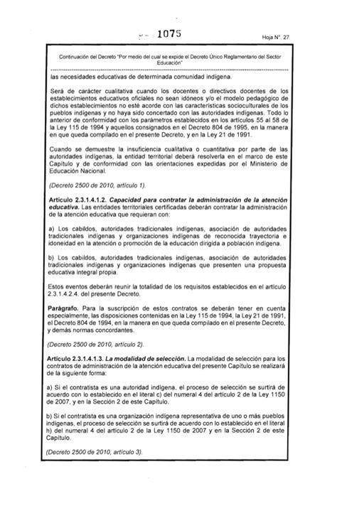decreto 1075 del ao 2015 decreto 1075 de 2015 dercreto unico reglamentario del