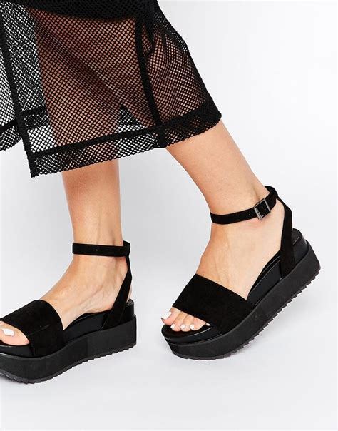 Sandals For by Image 1 Of Asos Hangtime Flatform Sandals Shoes To Flats Design And Black