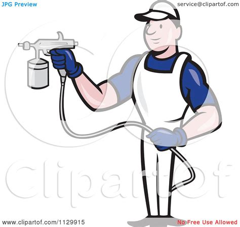 spray painter licence clipart of a retro spray painter worker royalty