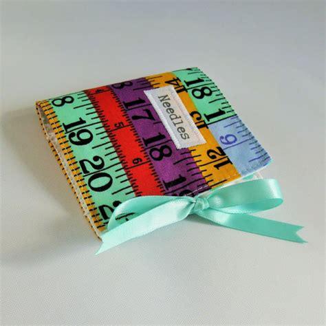 printable fabric measuring tape sewing needlecase with novelty measuring tape print fabric