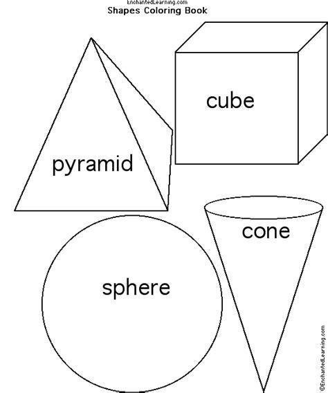 Cube Enchantedlearning - cylinder shape worksheet for preschool book covers