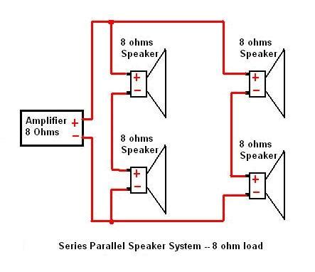 series parallel speaker wiring diagram get free image