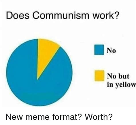 Yellow Meme - does communism work no no but in yellow meme on me me