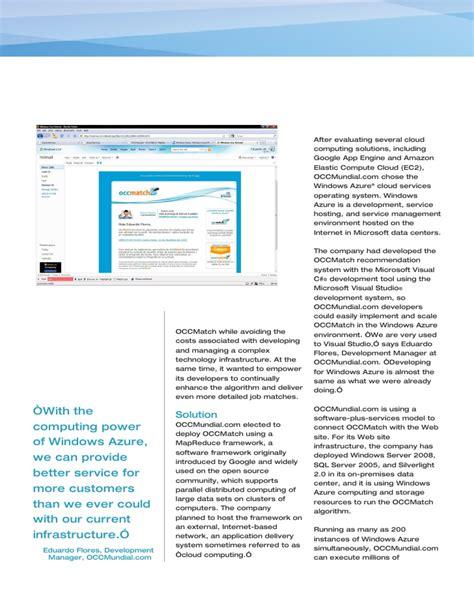 microsoft windows azure occmundial study