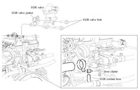 where is the egr valve located on 2007 ford escape