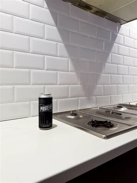 subway tile kitchen splashback bunnings workshop