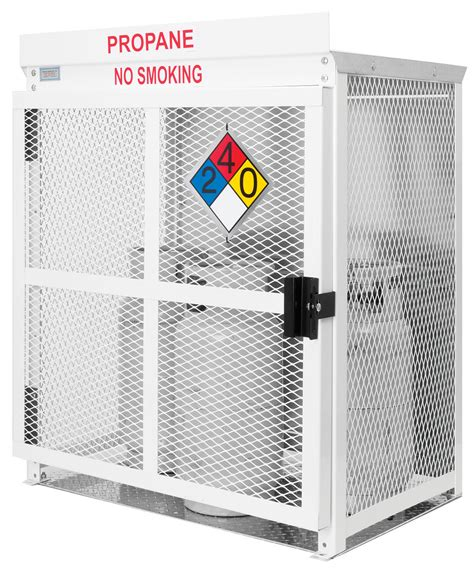 Is It Safe To Store Propane Tank In Garage by Propane Cage For Sale With Six Cylinder Capacity