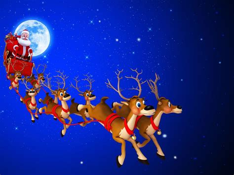 santa claus carriage   deer desktop hd wallpaper  pc tablet  mobile