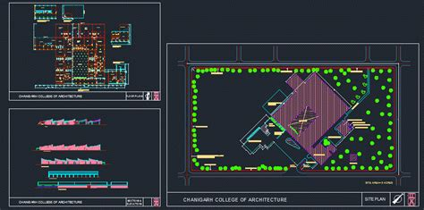 chandigarh college  architecture dwg plan  autocad