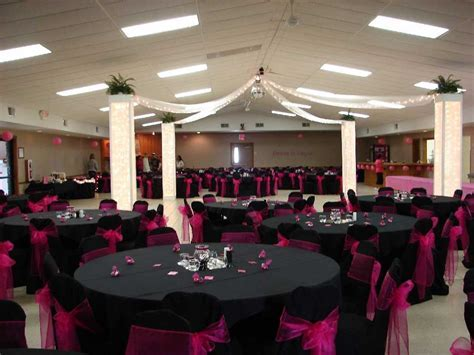 Gothic Wedding Reception Decorations And Tables Sets