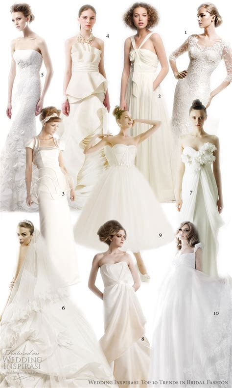 5 Wedding Gown Trends For 2010 by Top 10 Wedding Dress Trends In 2010 We To See