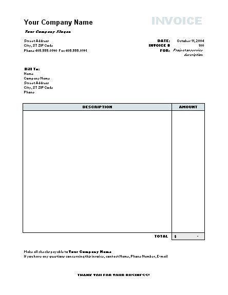Work Template Word Work Invoice Template Word Invoice Exle