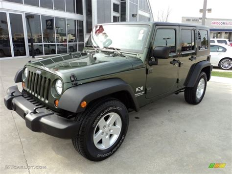 2008 Jeep Green Metallic Jeep Wrangler Unlimited X