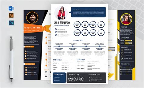 create modern  infographic cv resume   hours