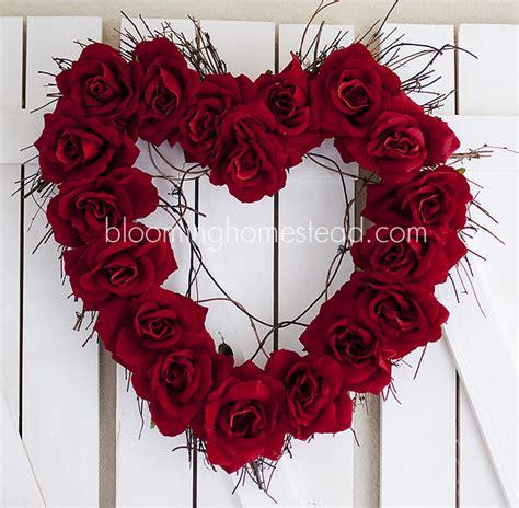 diy valentines wreath blooming homestead wreath diy