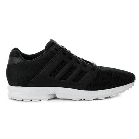 adidas originals zx flux  black running shoes