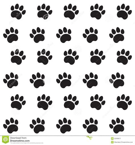 cat paper pattern and marks distribution traces of cat textile pattern stock illustration image