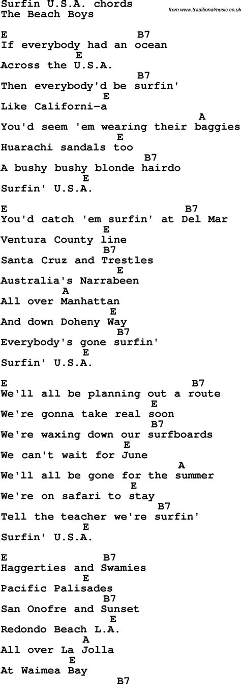 song in surfin u s a song