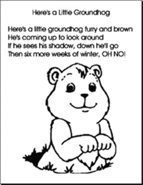 preschool coloring pages for groundhog day add a shadow or not kindergarten fun pinterest