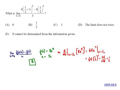 sle questions for calculus ab section 1 1969 ap calculus ab section 1 answer